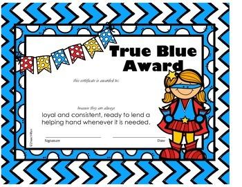 FREEBIE Student Award Certificate, reward, positive