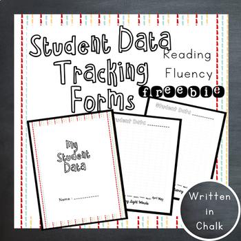 FREEBIE Student Data Fluency Tracker Form