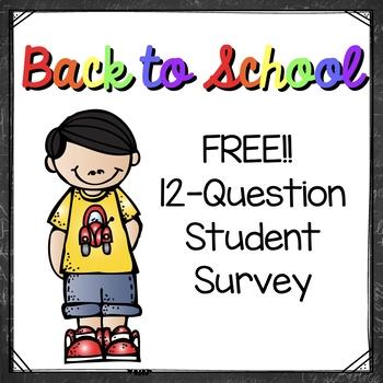 FREEBIE! Student Learning Survey