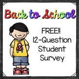 FREEBIE! Student Learning Survey
