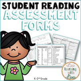 Reading Assessments Dolch, Pre-Primer, Primer, First Grade