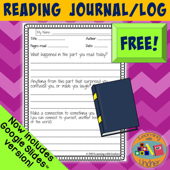 FREEBIE Student Reading Journal for any text!
