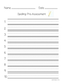 FREEBIE - Student Spelling Papers - Pre-Assessment & Test