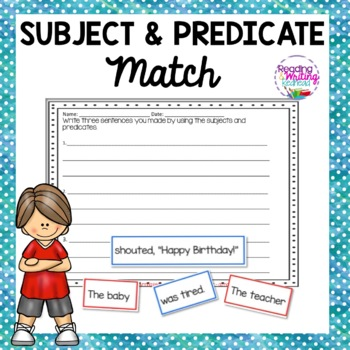FREEBIE: Subject and Predicate Match