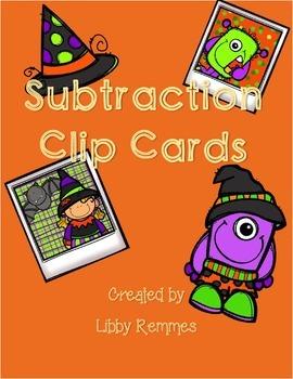 FREEBIE Subtraction Clip Cards