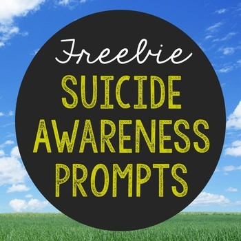 FREEBIE Suicide Awareness Writing Prompts, Notebook Journal Project