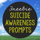FREEBIE Suicide Awareness Writing Prompts, Notebook Journa