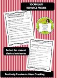 Summary & Elements of Drama Vocabulary {FREEBIE}