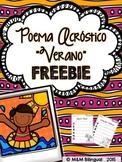 FREEBIE Summer Acrostic Poem {Spanish}