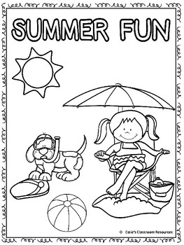 FREEBIE! Summer Coloring Page