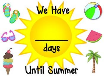FREEBIE Summer Countdown By Michelle Breaux