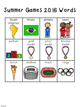 FREEBIE- Summer Games 2016 Words