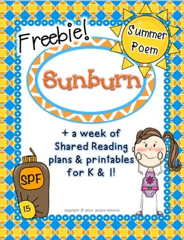 *FREEBIE* Summer Poem & Printables w/ Shared Reading Plans {Common Core Aligned}