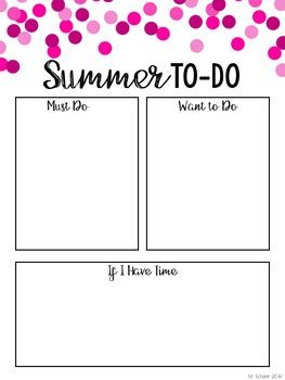 FREEBIE! Summer To-Do Lists