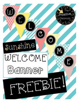 FREEBIE!! Sunshine Welcome Banner