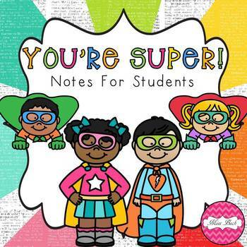 FREEBIE! Super Notes For Students