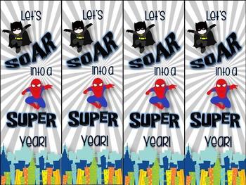 FREEBIE Superhero Bookmarks