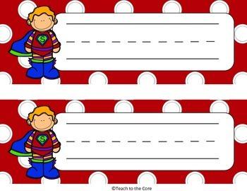 FREEBIE Superhero Theme Classroom Decor
