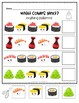 FREEBIE! Sushi Math Packet - Patterns, Counting, Adding, & More!