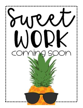 FREEBIE! Sweet Work Coming Soon - Pineapple