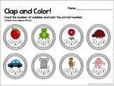 FREEBIE Syllable Count and Color - Common Core Aligned [RF.K.2b]