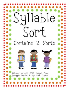 freebie syllable sort a cut paste activity by amber marker tpt. Black Bedroom Furniture Sets. Home Design Ideas