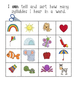 Dramatic image intended for syllable games printable