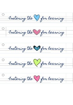 FREEBIE TPT Store Banners: Fostering the Heart/ Love for Learning Notebook Style