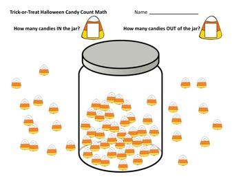 FREEBIE! TRICK-OR-TREAT MATH Homework + 2 more Halloween Worksheets PRINT & GO!