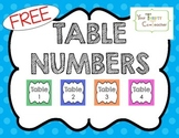 {FREEBIE} Table Numbers