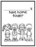 FREEBIE Take Home Folder Label/Insert