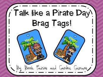 FREEBIE - Talk Like a Pirate Day Brag Tags
