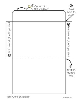 FREEBIE! Task Card Envelope/Holder