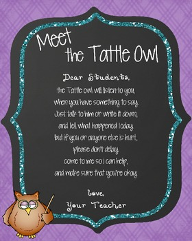 Tattle Owl Poster *Freebie*