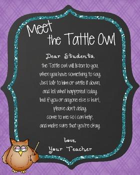Tattle Owl Poster *Freebie*