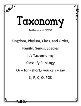 {FREEBIE} Taxonomy Song