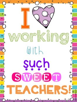 FREEBIE Teacher Apperciation Sign