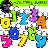 FREEBIE! Monster Number Clipart {Creative Clips Clipart}