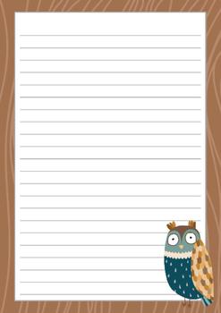 FREEBIE: Teacher Appreciation : Writing Papers - Owl Trio