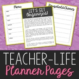 FREEBIE! Teacher-Life Planner Pages for Easy Weekly Organization
