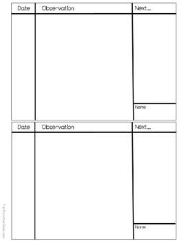 FREEBIE! Teacher Notes Flipbook for Progress Monitoring