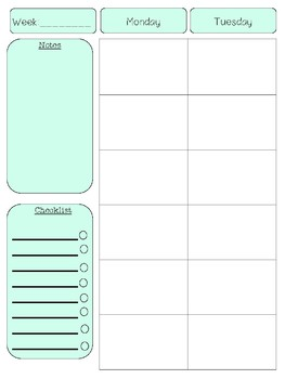 FREEBIE - Teacher Planner Template