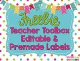 FREEBIE Teacher Toolbox Labels