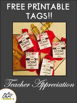 FREEBIE! Teacher gift tags