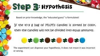 Learning Scientific Method with Candies (Presentation & Foldable) with Answers