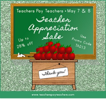 FREEBIE Teachers Pay Teachers Teacher Appreciation Sale Image and Banner