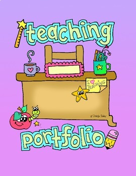 Freebie teaching portfolio cover page and spine by for Teaching portfolio template free