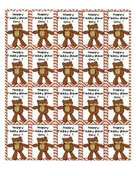 FREEBIE Teddy Bear Day Reading Activity + Brag Tag