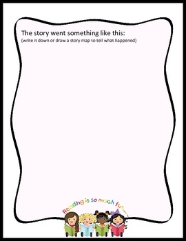 "FREEBIE - ""Tell Me A Story"" Oral Storytelling Record Sheets"