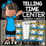 FREEBIE Telling Time to 5 Minutes Set 2